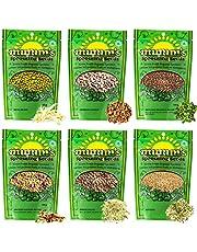 Mumm's Sprouting Seeds - Starter Sample Pack - 625 GR - Organic Sprout Seed Kit - Broccoli, Radish, Alfalfa, Mung Bean