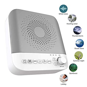 White Noise Machine, Sleep Sound Machine, 17 Soothing Sounds&Adjustable Nightlight, Relaxing Sleep Therapy