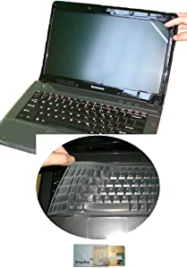 US Layout Keyboard Skin Cover +15.6 Screen Protector for Dell Inspiron 15-3542 15-3543 15-3565 15-5570 15-5566 15-5548 15-5565 15-5567 15-7559 15-7567 15-7577 15-7588 15-5558 15-5555 15-5559(Clear)
