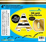 Barker Creek 4'' Poster Letters & Bulletin Board Letter Pop-Outs, 24k Gold (LL-1723)