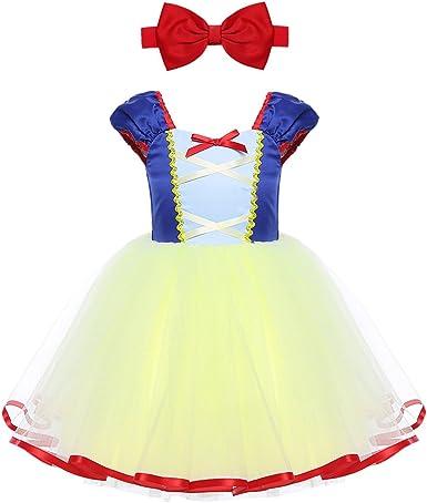 IEFIEL Vestido de Princesa para Bebé Niña Disfraz Infantil Vestido ...