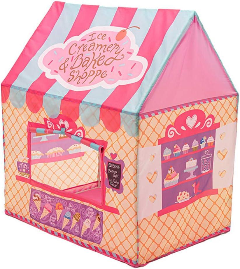 WLDOCA Tienda campaña Infantil niños de Material 190T Heladería Interior y Exterior para niños y niñas (110 * 70 * 110 cm),Rosado