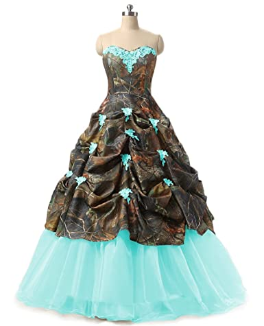Review Chupeng Women's Appliques Camouflage Wedding Bridal Dresses Prom Quinceanera Plus Size