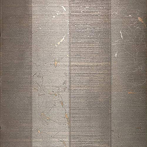76 sq.ft roll Made in Italy Portofino wallcoverings Modern Embossed Vinyl Non-Woven Wallpaper Copper Bronze Metallic Striped Textured Vertical Stripes & Horizontal Stria Lines Textures Wall coverings