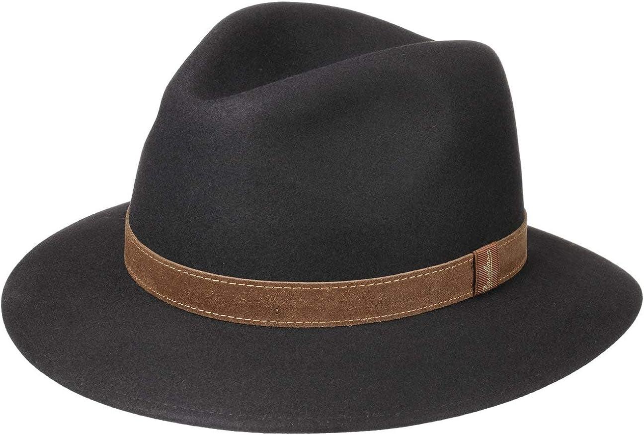 Borsalino Sombrero Nero Pack Away de fieltro pelotraveller pelo