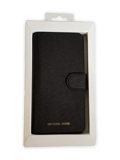 newest collection bf597 9f98a Michael Kors Saffiano Leather Folio Phone Case for Galaxy S8 Plus, Black