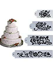 everpert 4pcs decoración de pasteles herramientas fondant moldes para tartas diseño de flores y hojas