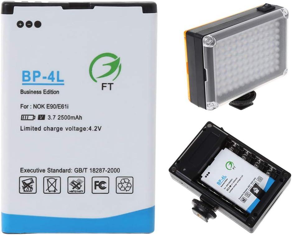 BP-4L 2500mah Li-Ion Batería De Repuesto Para Cámara LED Luz de vídeo NUEVO 96//112