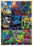 #9: X-MEN 1994 FLEER ULTRA 9-CARD UNCUT MINI PROMO SHEET MARVEL 6 X 8 1/4