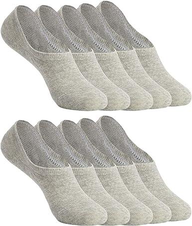 YOUCHAN Sneaker Socken Damen Herren Füßlinge 10 Paar Footies Unsichtbare Kurze No Show Socken Großes Silikonpad Anti Rutsch