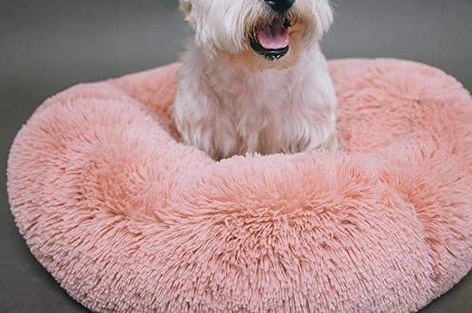yhwygg Cama Perro Mascota Suave Felpa Camas Redondas para Perros ...