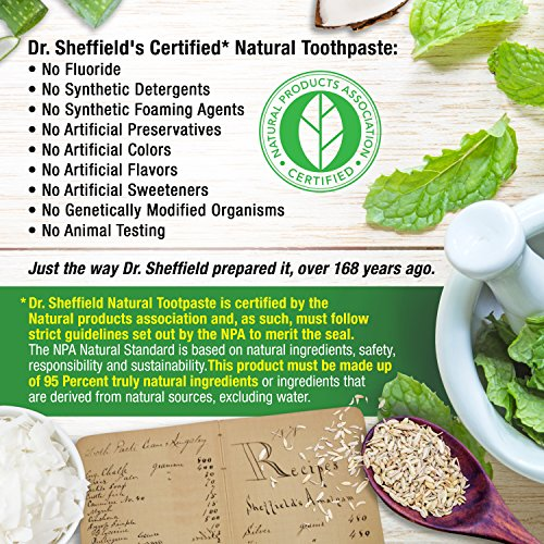 Dr. Sheffield's Certified Natural Toothpaste - WINTERGREEN - 5 OZ (2 PACK) by Dr. Sheffield's (Image #4)'