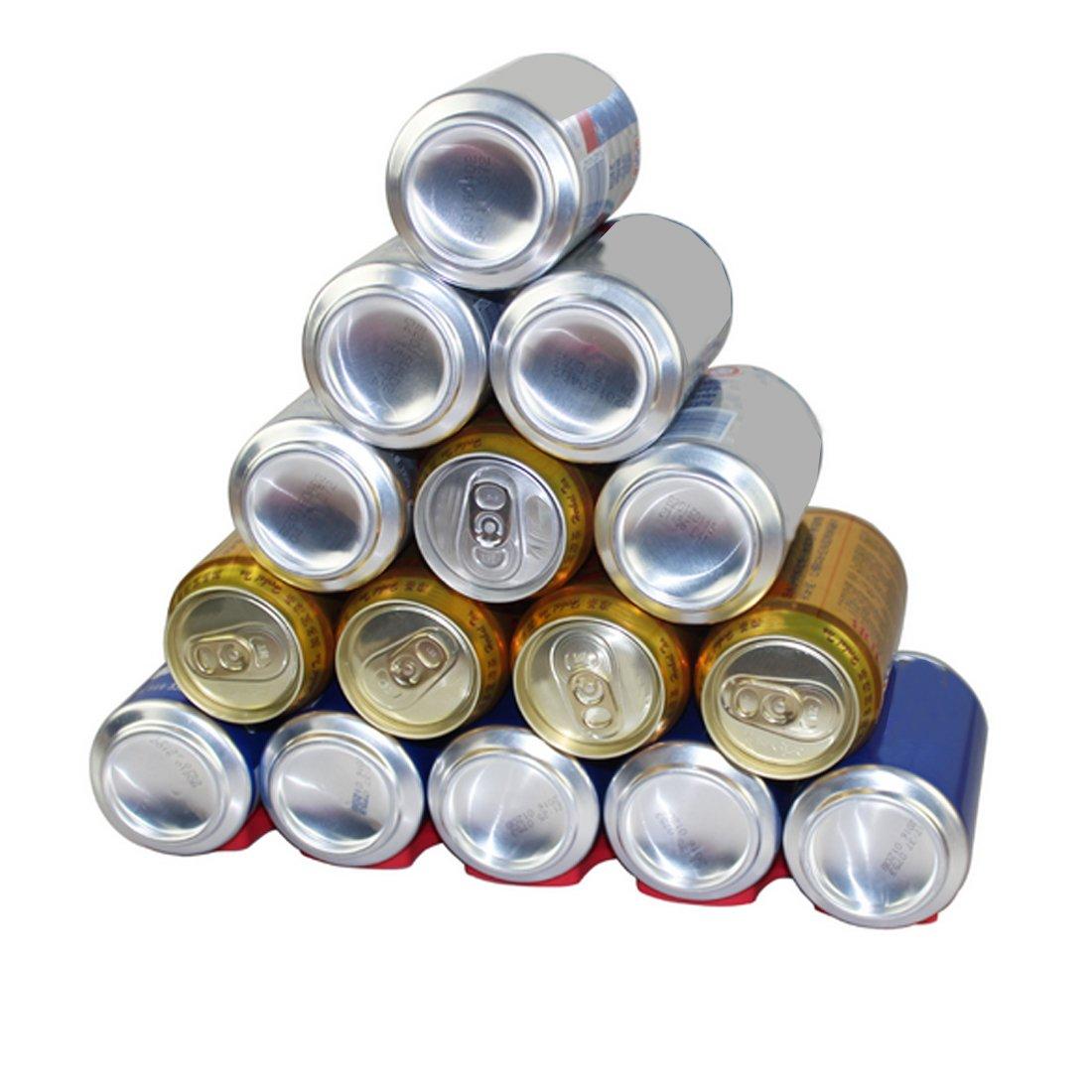 Silicona Cocina frascos latas fácil apiladora soporte organizador rack de almacenamiento frigorífico: Amazon.es: Hogar