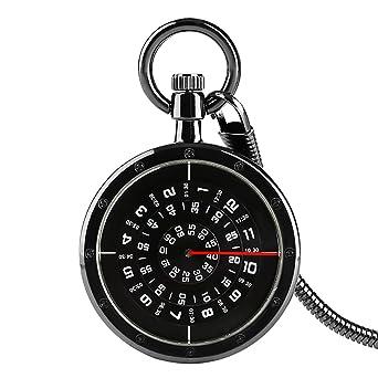 Reloj de Bolsillo para Hombre, números de Tocadiscos Negros, Reloj ...