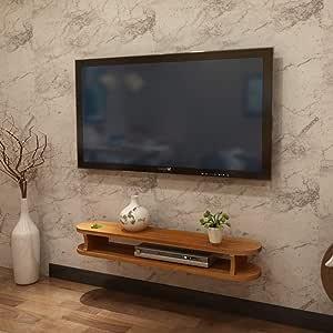 ZPWSNH Marco de pared decorativo Soporte para televisor Gabinete de entretenimiento Unidad de administración de almacenamiento Reproductor de DVD Caja de cable Estante flotante Mueble para TV de pared: Amazon.es: Hogar