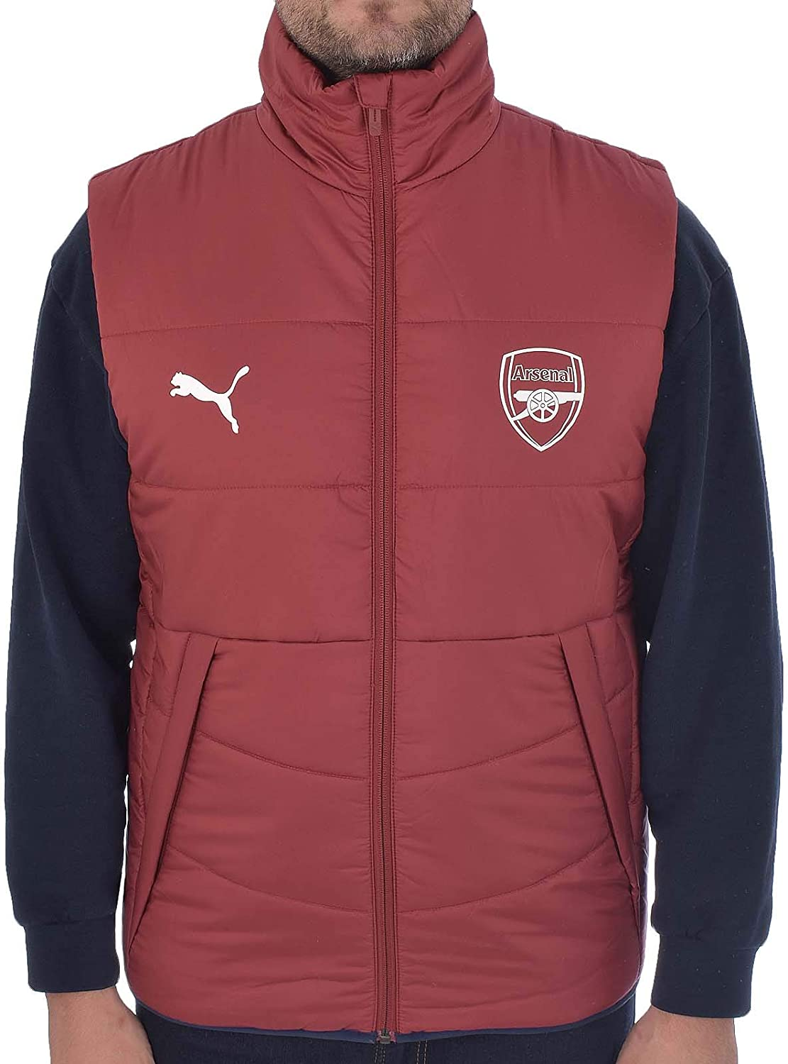 Arsenal FC Official Football Gift Boys Padded Body Warmer Gilet