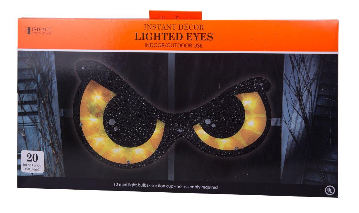 Halloween Lighted Eyes Window Decoration