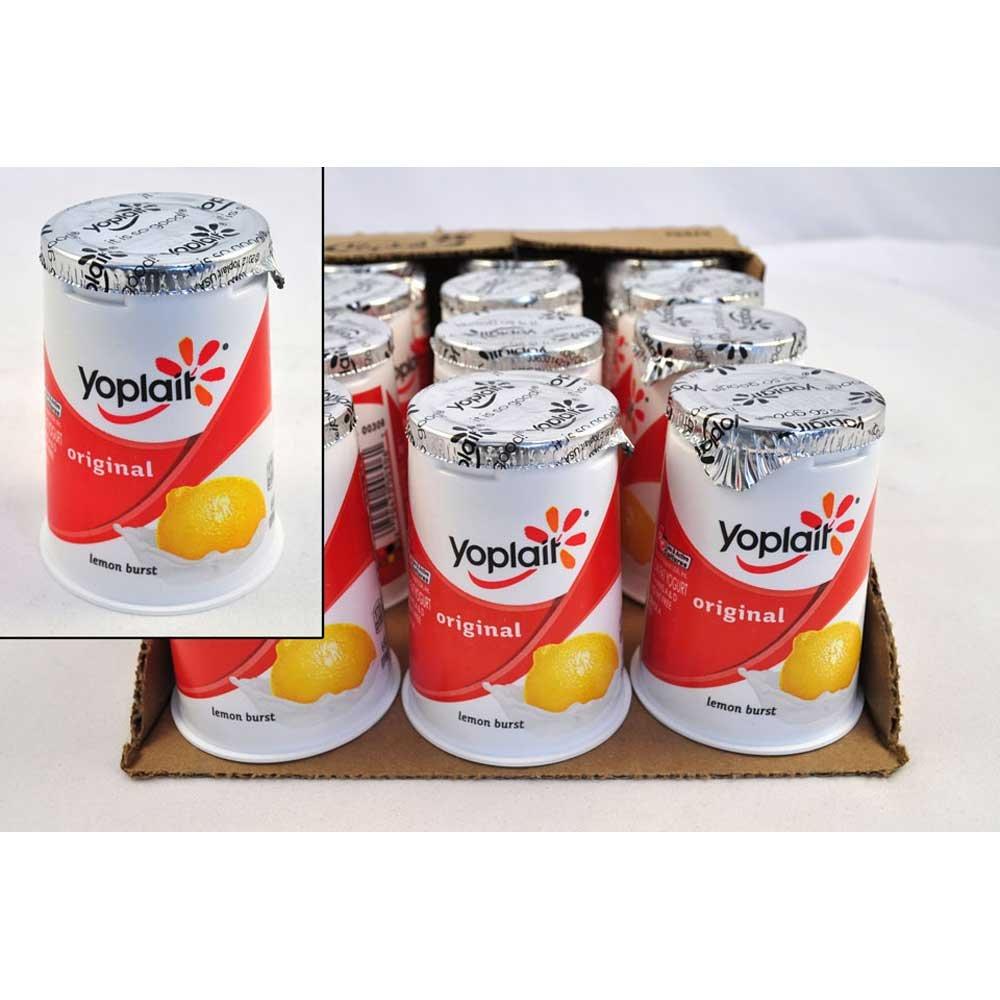 Yoplait Original Lemon Burst Yogurt, 6 Ounce - 12 per case.