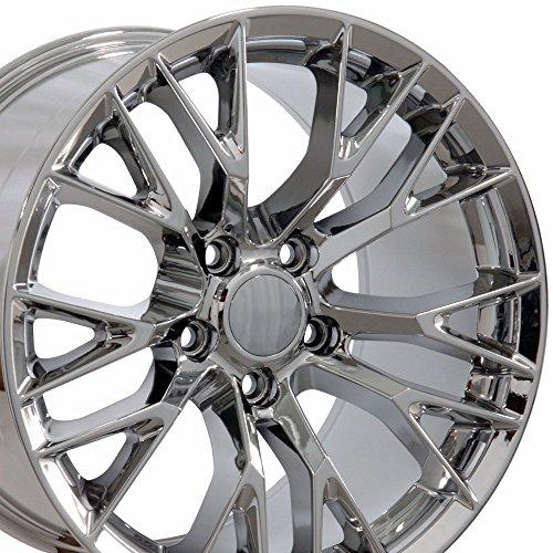 Chrome Rear Rims - 19x10 Wheel Fits Corvette - C7 Z06 Style PVD Chrome Rim - REAR ONLY
