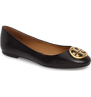 ff862280507142 Tory Burch Womens Benton Nappa Leather Ballet Flat Perfect Black 006