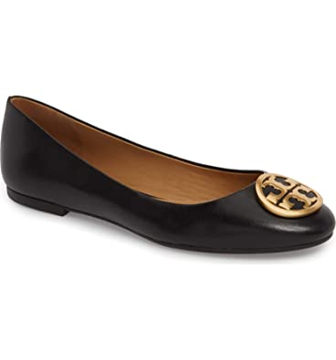 a16b5c8e29aa Tory Burch Womens Benton Nappa Leather Ballet Flat Perfect Black 006 (8.5 M  US)