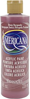 product image for DecoArt DA128-9 Americana Acrylics, 8-Ounce, Deep Burgundy
