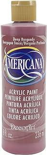 product image for DecoArt DA128-9 Americana Acrylics, 8-Ounce, Deep Burgundy