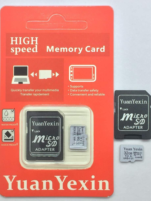 YuanYexin Micro SD 32GB SDHC U1 pass H2testw Memory Card Plus Adapter (Class 10 U1 UHS-I V10...