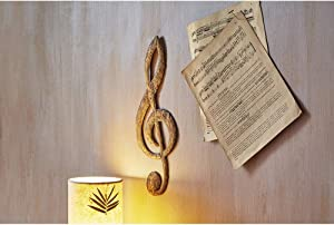 Eangee Home Design Music Wall Decor Note in Gold (m3000)
