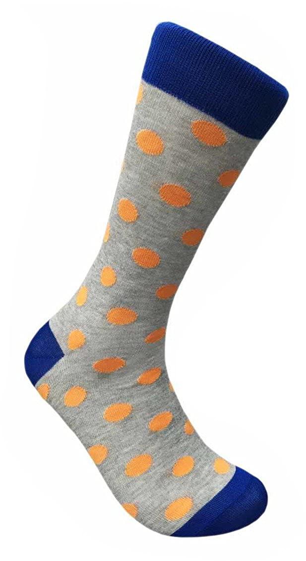 Mens Hipster Jumbo Polka Dots Novelty Funky Business Crew Dress Socks