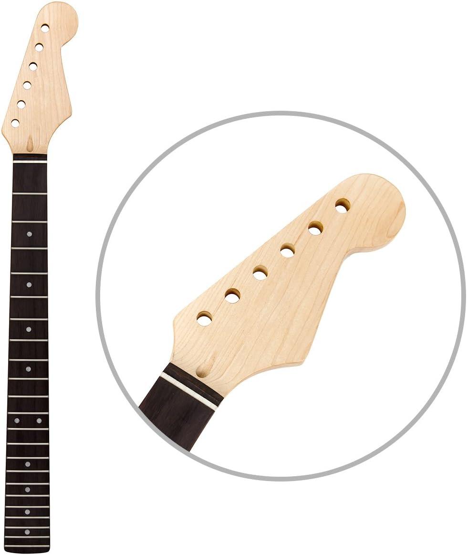 Kmise - 22 trastes en negro brillante para mástil de guitarra ...