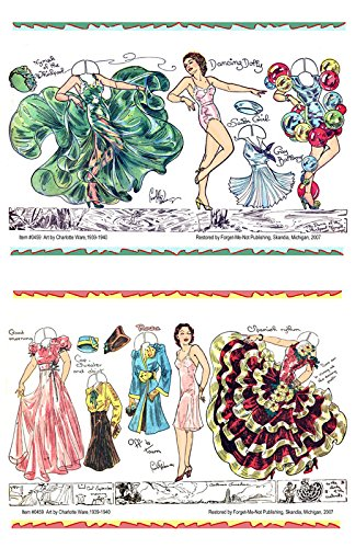 30s Dance Costumes (#0459 Two Paper Dolls by Charlotte Ware: Dancers)