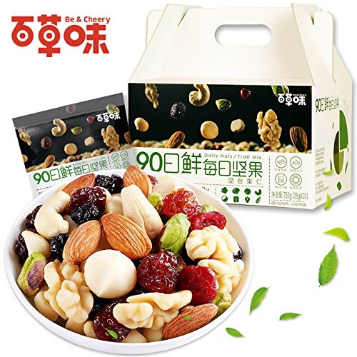 Aseus Chinese delicacies [-90 750g/30 fresh day nuts] bag of mixed nuts pregnant women snacks spree by Aseus-Ltd