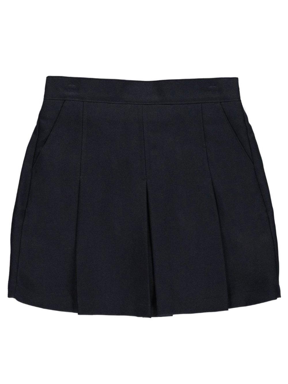 Nautica Big Girls' Kickpleat Scooter Skirt - Navy, 10