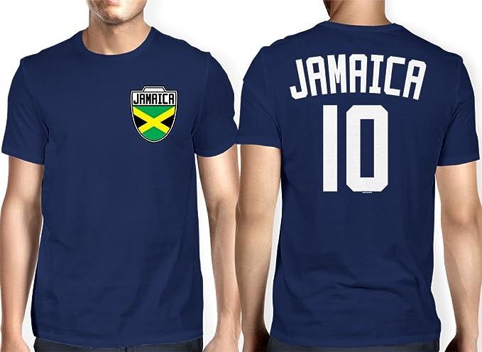 HAASE UNLIMITED para Hombre Jamaica Color de Jamaica, de Fútbol Camiseta de Fútbol - Azul -: Amazon.es: Ropa y accesorios