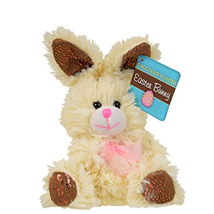 amazon com chocolate scented plush stuffed easter bunny rabbit with