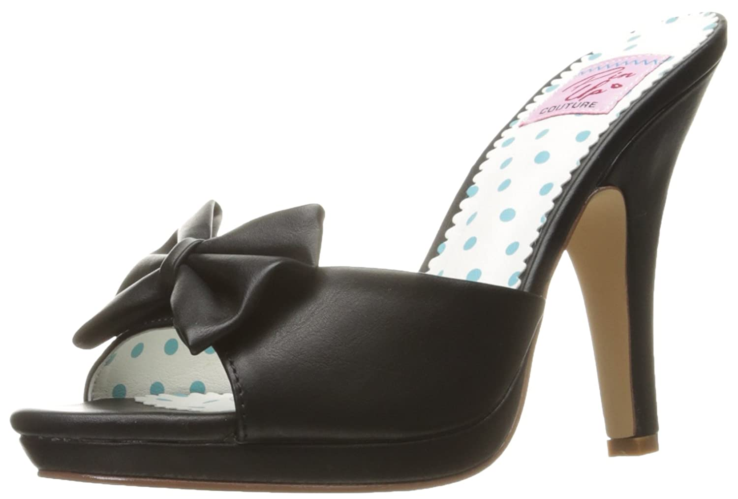 Pin Up Couture SIREN-03 39 EU|Blk Faux Leather
