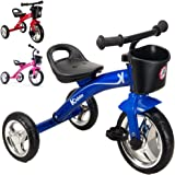 Kiddo Blue 3 Wheeler Smart Design Kids Child Children Trike Tricycle Ride-On Bike 2-5 Years New (Blue)
