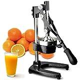 FCH® Manual juicer Home Use Stainless Steel & Cast Iron juicing machine-Orange Comercial Manual Citrus Juicers Juice Extractor-Fruit liquidizer & Ideal for Juicy Fruit liquidizer (Black Color)