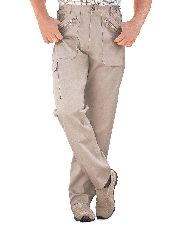 TALLA Cintura 81cm x Longitud De Las Piernas 69cm. Pantalones Multibolsillos Elásticos de Carga Combate de Hombre