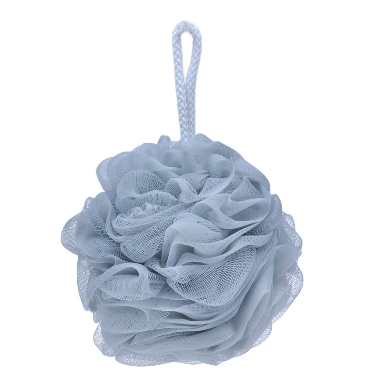 Dpijer Bath Shower Sponge Loofahs with Soft Natural Loofah Bath Flower Bath Ball Scrubber Shower Puffs Body Cleaning Exfoliating Bath Shower Sponge Mesh,Blue