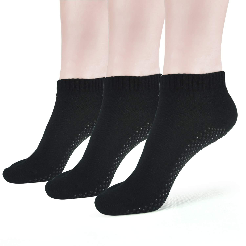 Yoga Socks Anti Skip Slipper Socks Barre Ballet Pilates Grips Fitness Socks For women Elutong