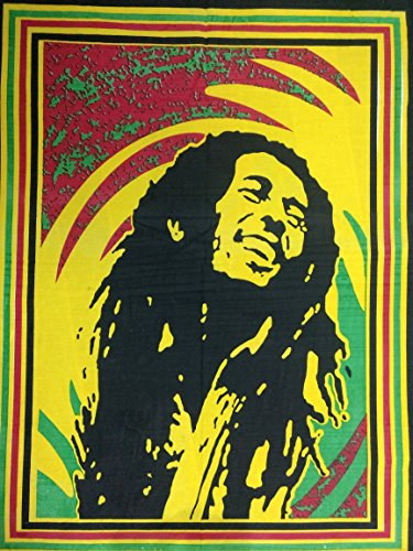 ICC Bob Marley Laughing Poster 30x40 In Hippie Bohemian Tapestry Psychedelic Flag Gift Wall Hanging Dorm Decor Blanket Tapestries Hippy Hippie Rasta Reggie Collage Mat Decoration (Laughing multi 2)