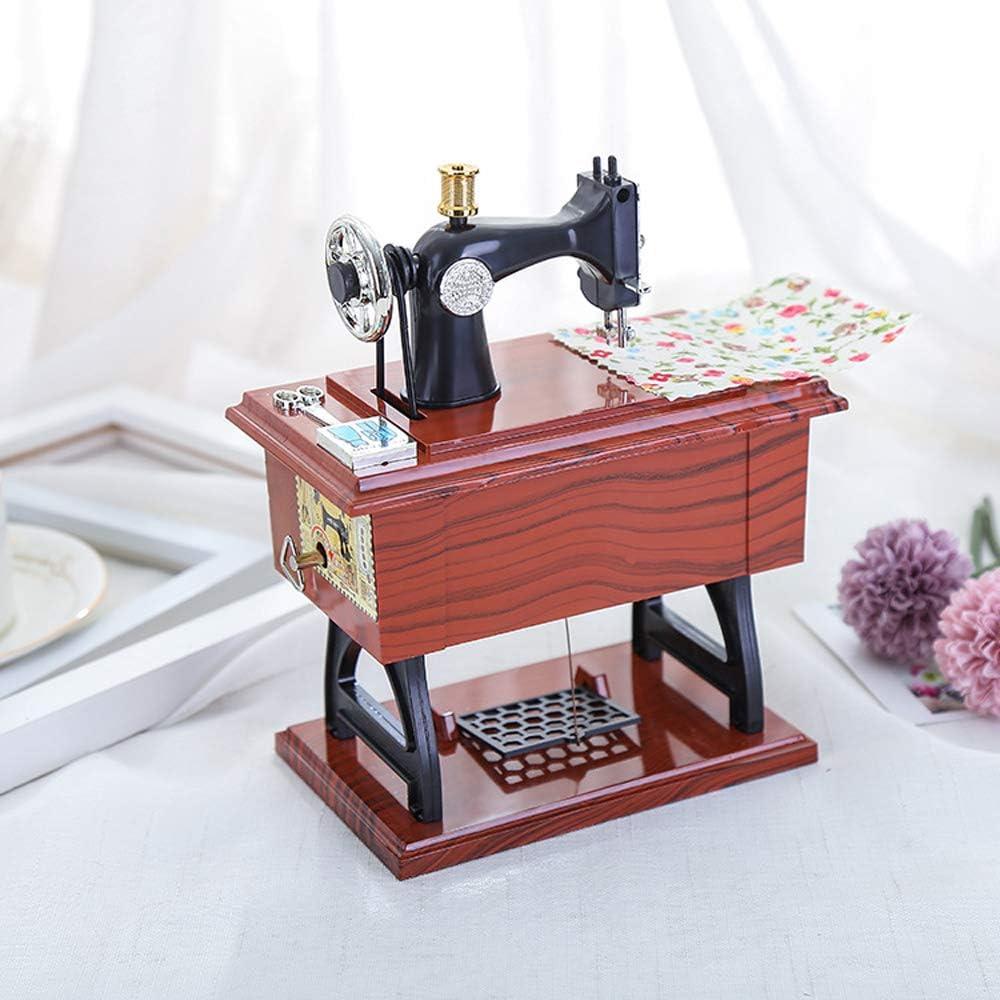 Kalaok Tipo de pedal Máquina de coser Caja de música Regalo antiguo Juguetes educativos musicales Decoración para el hogar Accesorios de moda: Amazon.es: Instrumentos musicales