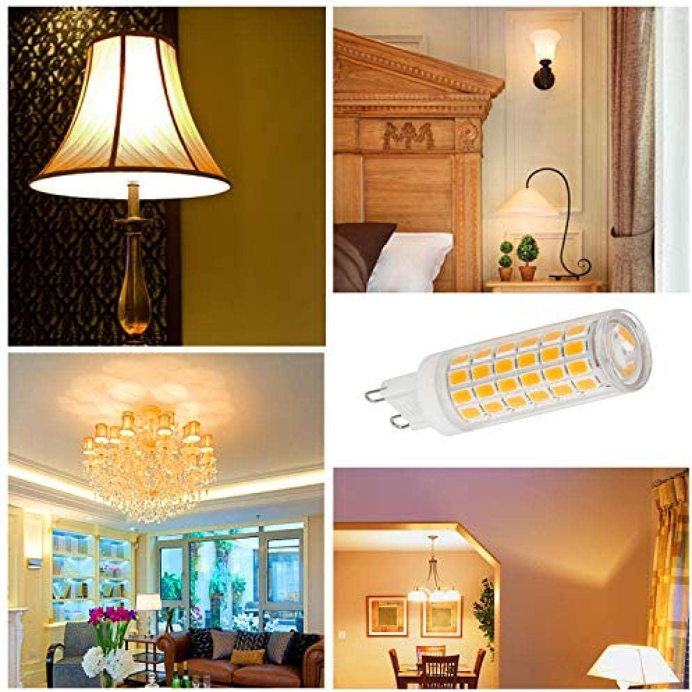 Paquet de 6 ampoules /à LED G9 7W Ampoule /à /économie d/énergie /à ampoule LED G9 sans flash stroboscopique 710LM blanc chaud AC 110-230V