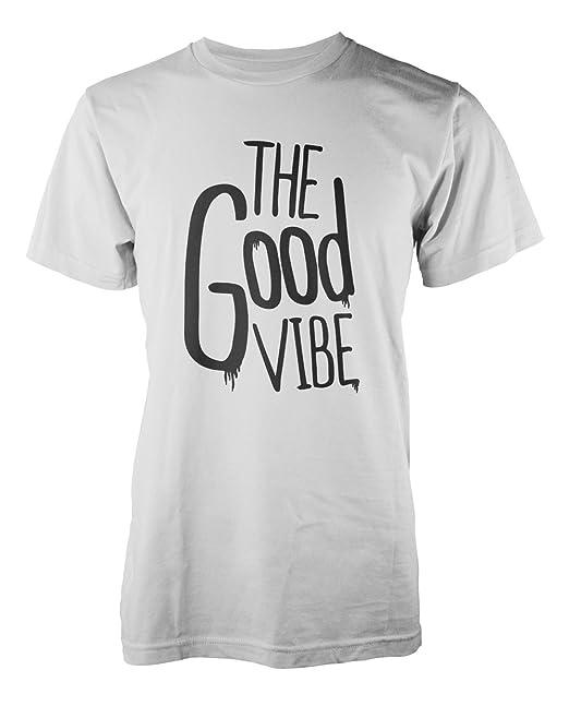 5fa09ca3 Amazon.com: The Good Vibe Cool Slogan Men's T-Shirt White XX-Large ...
