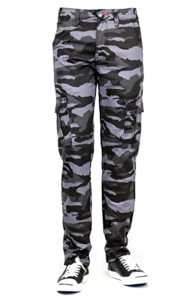 b9a65c9b0fb2 Urban Icon Men's CAMO Print Skinny Jeans with Comfort Stretch, 30WX30L,  Black Cargo