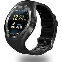 E T EASYTAO Relojes Inteligentes Hombre Bluetooth Pulsera Deportiva Rastreador de Fitness Teléfono Android Smart Watch Hombre Multifuncionales Soporta Tarjeta SD y SIM con Idioma Español (Negro)