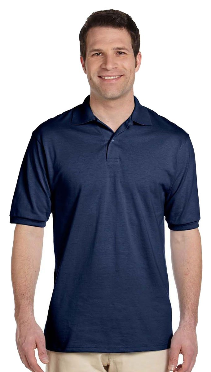 Jerzees Men's Spot Shield Short Sleeve Polo Sport Shirt, Jnavy, 4X-Large