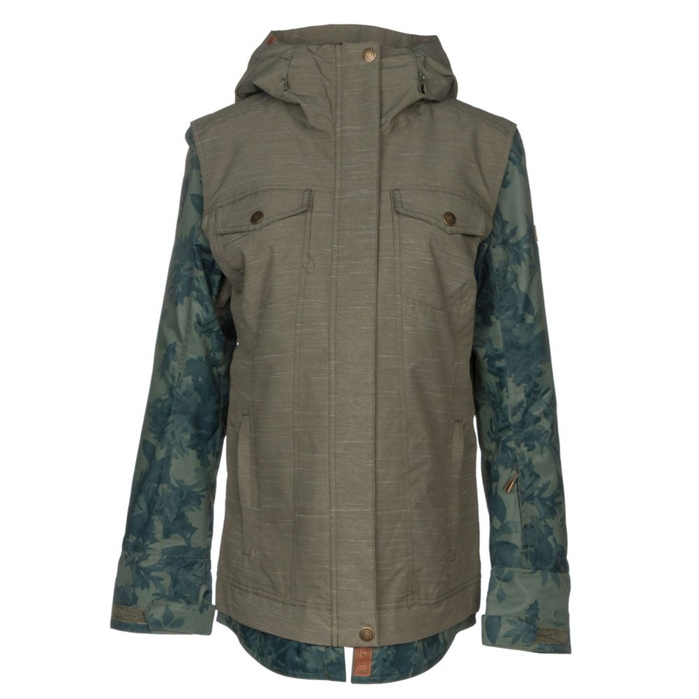 Roxy SNOW Junior's Ceder Snow Jacket, Dust Ivy, M by Roxy